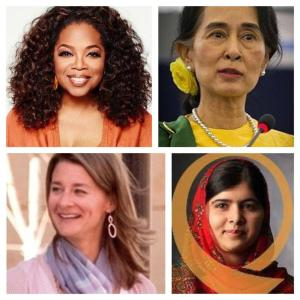 Inspirational women changing the world - Oprah, Malala, Aung San Suu Kyi, Melinda Gates