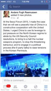 Anders Fogh Ex prime minister in DK and former head of th UN ... on China and US relationship